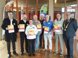 Patrick, Ron, Susan, Rod, Peter, John, Brock and Mayor Pittock