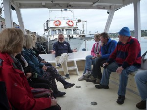 Stuart giving a talk to volunteers on The Plover
